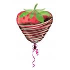 """Folijas hēlija balons """"Zemenīte"""", 45x48cm"""