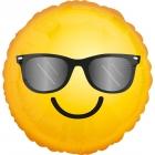 """Folijas hēlija balons """"Emodži Smaidiņš ar saulesbrillēm"""", 43 cm"""