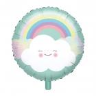 """Folijas hēlija balons """"Varavīksne un mākonis"""", 43 cm"""