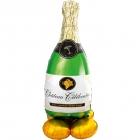 """Folijas gaisa balons """"Šampanieša pudele"""", īpaši liels balons, 152 cm, piepūšams ar gaisu"""
