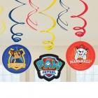 """Spirālveida piekaramās dekorācijas """"Paw Patrol 2018"""", 6 gab., folija/papīrs, 61 cm"""