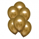 Hroma baloni zelta krāsa, Satin Luxe, 28cm, 6 gab.