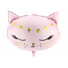 """Folijas balons """"Kaķītis"""", piepūšams ar hēliju vai gaisu, 48 x 36 cm"""