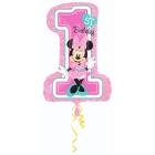 """Ciparu balons """"1. dzimšanas diena – pelīte Minnija"""", 48 x 71 cm, piepūšams ar hēliju"""