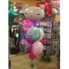 Kompozīcija no hēlija baloniem uz dzimšanas dienu