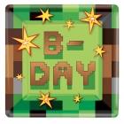 8 šķīvji Minecraft/TNT Party!  23 x 23 cm,  papīrs
