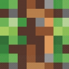 16 salvetes Minecraft/TNT Party! 33 x 33  cm
