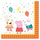 16 pusdienu salvetes Peppa Pig 33 x 33 cm
