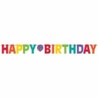 Burtu baneris Happy Birthday, varaviksnes krāsas  3.35m x 31.7cm