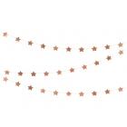 Zvaigžņu virtene, rozā zelts, 360  x 5 cm, folija/papīrs