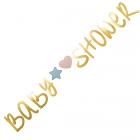 Dekorācija Gaidot Mazuli ballītei – Baby Shower virtene, zelta, 22 x 220 cm