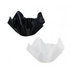 Plastmasas bļoda uzkodām, augļiem, konfektēm, cepumiem. Melna/balta, 23 x 23 x 12 cm