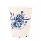 Glāzītes Zilā roze, 250 ml, 8 gab.