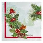 Salvetes Ziemassvētku koks, 33 x 33 cm, 16 gab., trīsslāņu