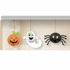 3 Hanging Decorations Gruesome Group Paper 16.5 cm / 19.3 cm / 26.6 cm