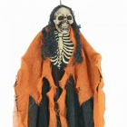 Helovīna dekorācija  Skelets oranža krāsā, piekarama, izmērs 60cm