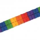 Papīra virtene, lapas, varavīksne