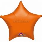 Zvaigzne oranža folijas balons 48 cm