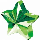 Zvaigžņu forma balonu svariņš, zaļš