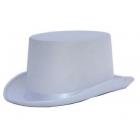 Cilindra cepure, balta, satīna