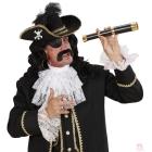 Pirāta cepure ar galvaskausu un spalvu, filc