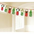 Ziemassvētku rakstzīmes Pušķu virtene  sarkana un  zaļa  2.4   m