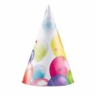 Dzimšanas diena,  cepurītes 8 gab, 16 cm