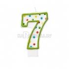 """8cm svece tortei -  Skaitlis """"7"""""""