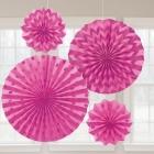 Papīra dekorācija rozā 2x20.3 cm, 30.4 cm, 40.6 cm