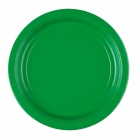 8 Plates Paper Festive Green 22.8 cm