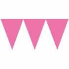 Vimpeļu virtene, rozā  - 24 karodziņi un  4.50m lente