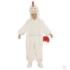 Cālēns baltas  krāsas karnevālu kostīms kombinezons ar kapuci un maska 113 cm 3-5 gadu bērniem