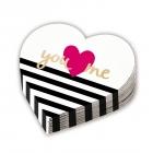 Salvetes sirdsforma  Ikdienas Mīlestība 12. gab 32 cm