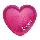 Šķīvji sirdsforma Ikdienas Mīlestība  6. gab.