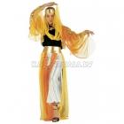 Austrumu dejotājas kostīms,  blūze, žakete ar vizuļiem, bikses ar plīvuriem, josta, galvasrota ar plīvuriem
