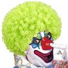 Klauna/Disko parūka, salātu zaļa, cirtaina (afro)