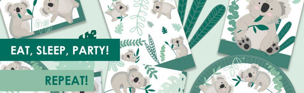 Koala party dekorācijas un balonu jūsu ballītēm