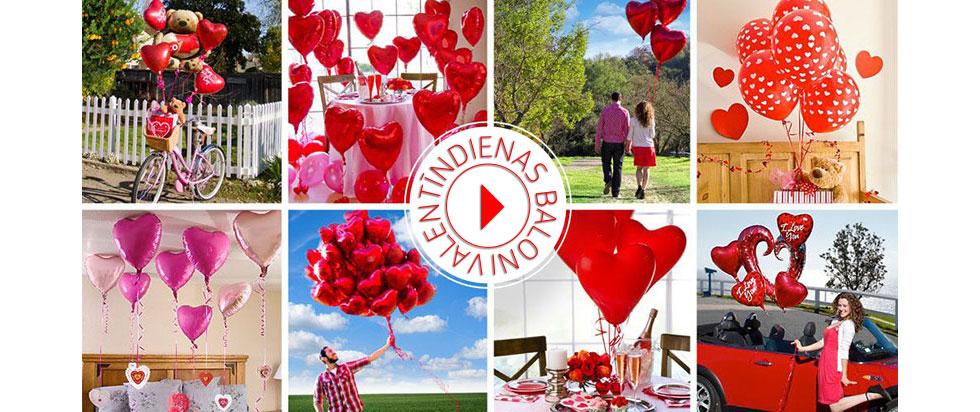 Возжушные шары с гелием и композиции их шаров на День Святого Валентина