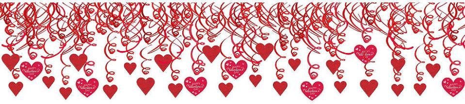 Viss Valentīndienai - baloni, telpas dekorācijas, galda piederumi