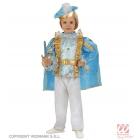Prinča kostīms -  blūze, bikses, josta, apmetnis un berete. Izmērs  104 cm.