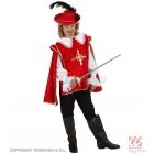 Musketiera kostīms, (128cm) , sarkanā krāsā - krekls un samtains apmetnis