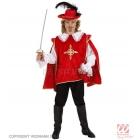 Musketiera kostīms (140cm), sarkanā krāsā - krekls un samtains apmetnis