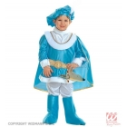 Prinča kostīms 110, gaiši zils - mundieris ar apmetni, bikses, josta, apavu pārvalki, cepure ar spalvām