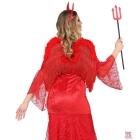 SPALVU SPĀRNI, sarkani, ar marabu un gliteriem,   46 cm x 49 cm