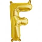 """Burtu balons """"F"""",  41cm, folijas figūra paredzēta piepūšanai ar gaisu"""