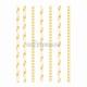 Kokteiļa papīra salmiņi, dzeltenas, ar punktiņu un līkloču | zigzag rakstu, 20cm,24 gab.