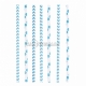 Kokteiļa papīra salmiņi, gaiši zila, ar punktiņu un līkloču | zigzag rakstu, 20cm,24 gab.