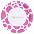 PUNKTI Papīra šķivji, Koši rozā krāsa, 33 cm, 8.gab.