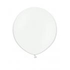 Apaļas formas liels lateksa balons caurspīdīgs, bezkrāsains, 60cm, pastelis, 1 gab.