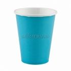 Papīra glāzes, Karību jūras zila  krāsa, 256 ml, 8.gab.